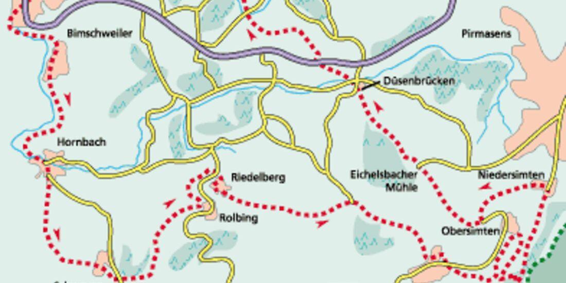 Pfalz Tour 3 Karte