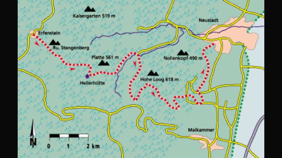 Pfalz Tour 4 Karte