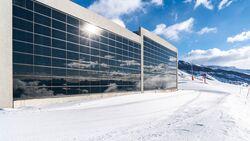 Photovoltaikanlage im Schweizer Skigebiet Flims Laax Falera