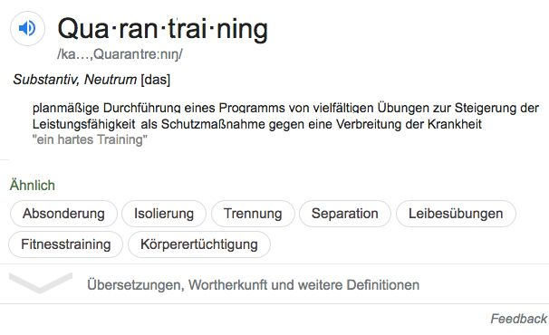 Quarantraining