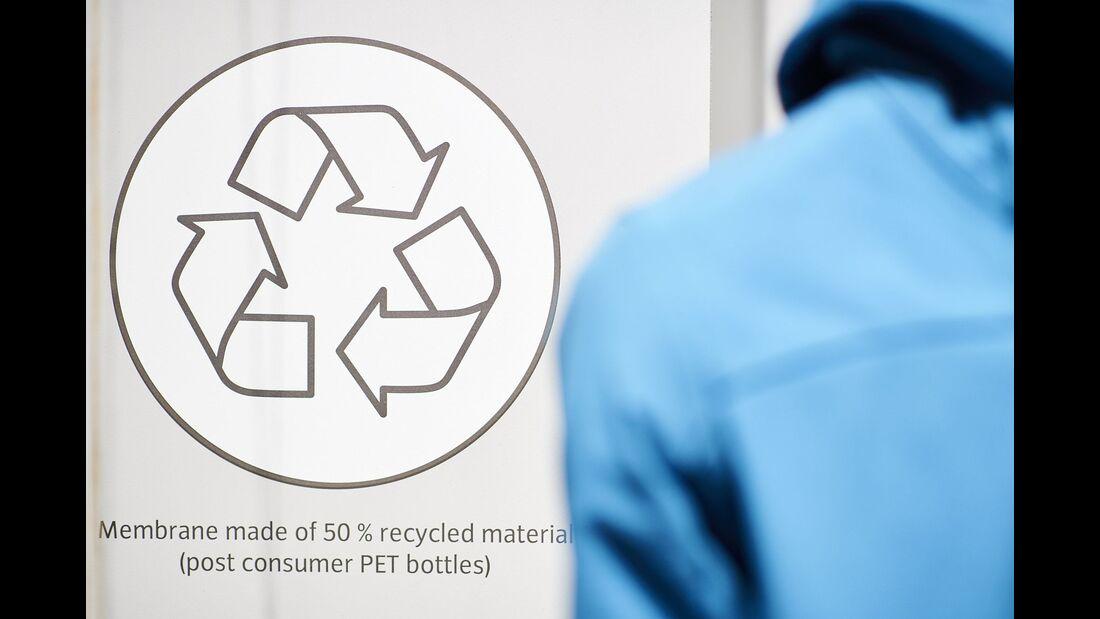 Recycling-Produkte auf der ISPO Munich