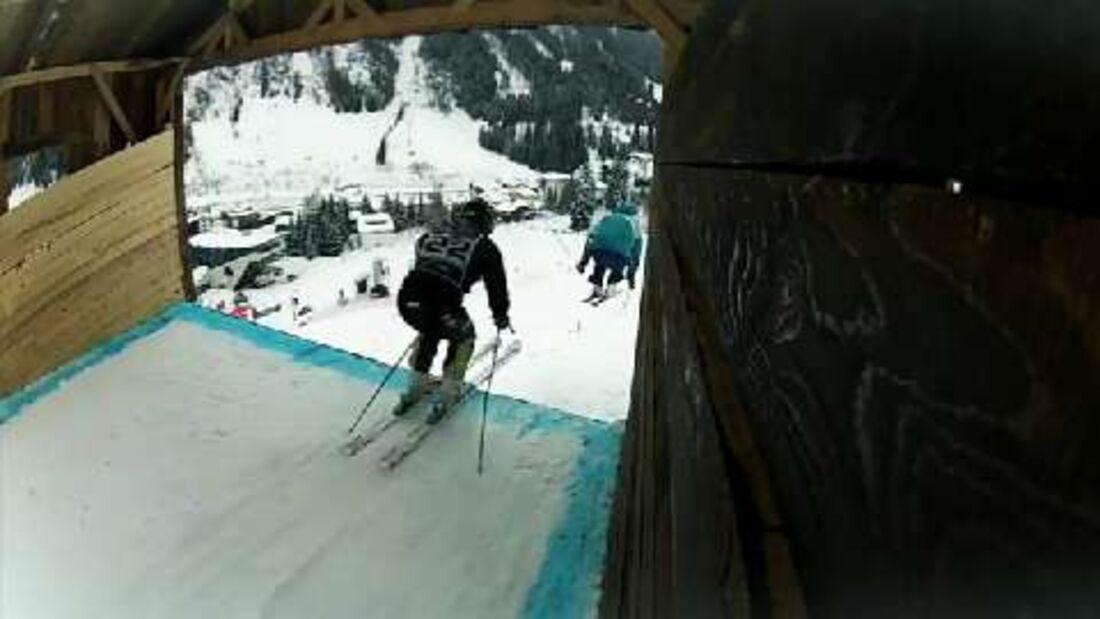 Red Bull Hüttenrallye 2012 in St. Anton am Arlberg: Einer der härtesten Freeski-6-Cross-Wettbewerbe des Jahres