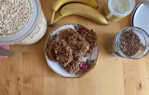 Rezept Banana-Pancakes - gesundes Frühstück fürs Klettern