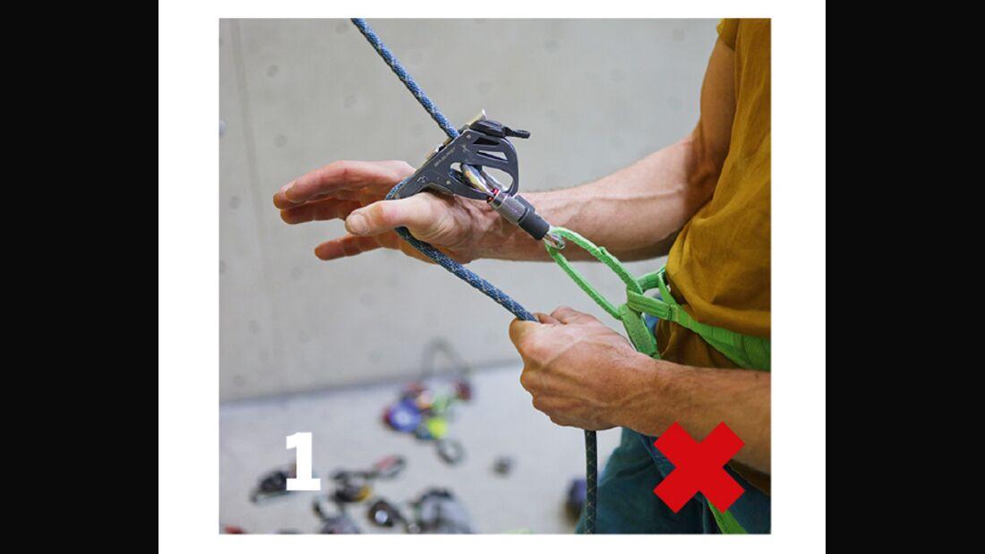 Richtig Sichern beim Klettern
