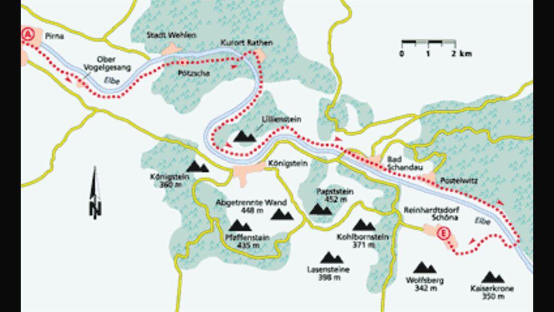 Sachsen Tour 4 Karte