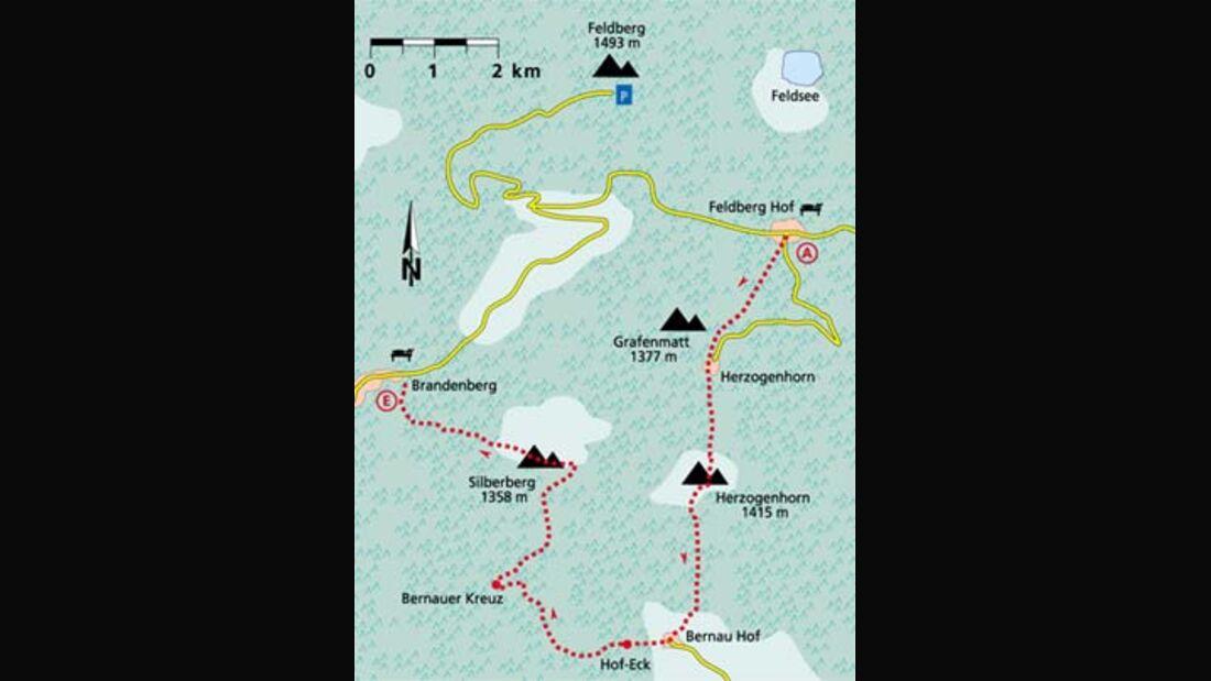Schwarzwald Tour 1 Karte