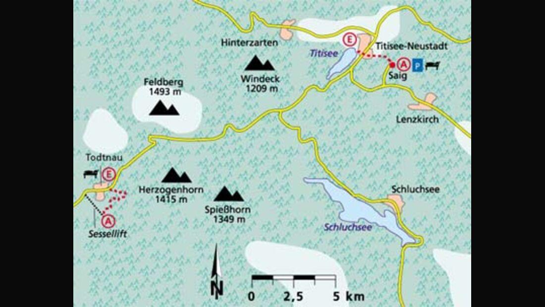 Schwarzwald Tour 2 Karte