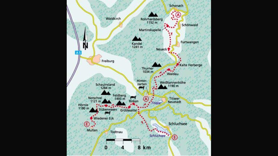 Schwarzwald Tour 3 Karte