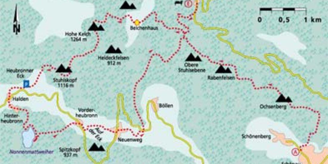 Schwarzwald Tour 4 Karte