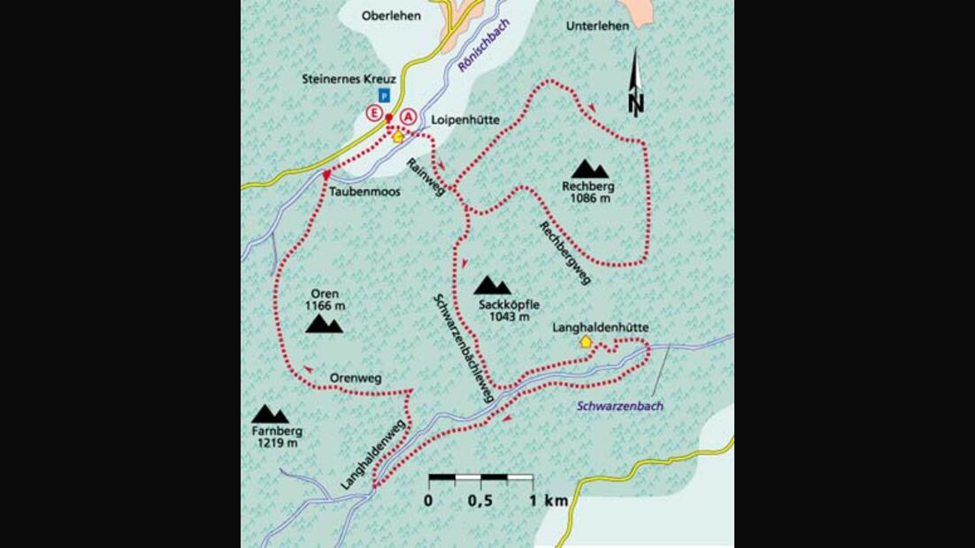 Schwarzwald Tour 5 Karte