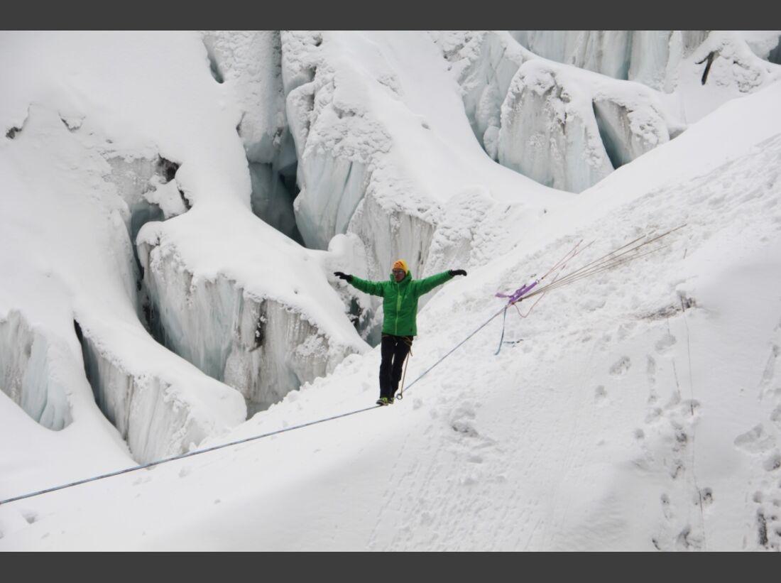 Slackline-Höhenweltrekord in Peru 5