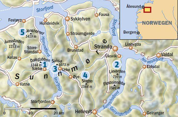 Sunnmore Alpen - Wandertouren