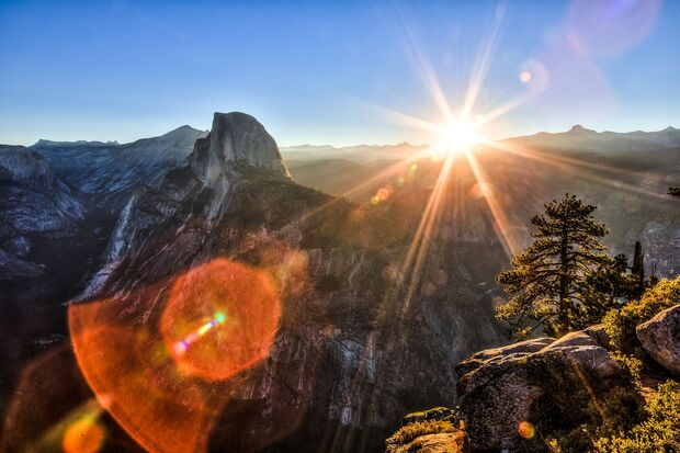 Sunrise over Yosemite National Park