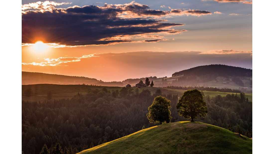 Switzerland Summer: Eggiwil, Sonnenuntergang
