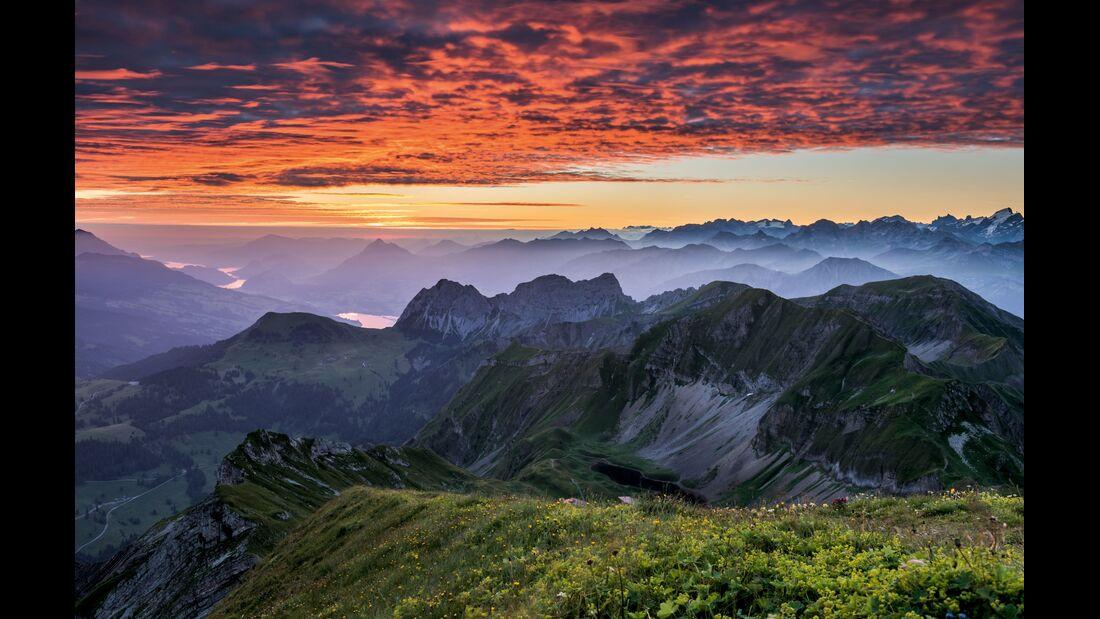 Switzerland  Summer: Fluehli, Brienzer Rothorn Panorama