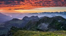 Switzerland  Summer: Fluehli, Brienzer Rothorn Panorama