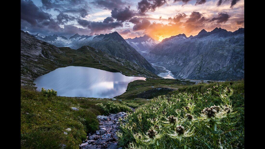 Switzerland  Summer: Guttannen, Grimsel Panorama