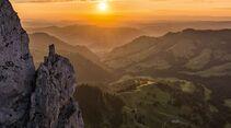 Switzerland Summer: Soerenberg, Sonnenuntergang