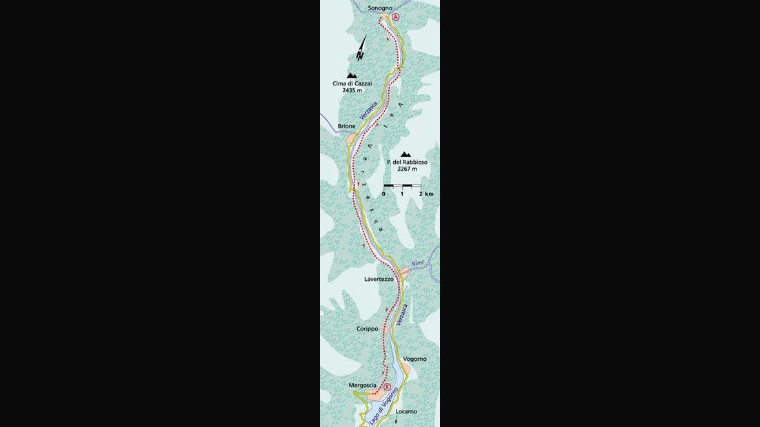Tessin Tour 2 Karte