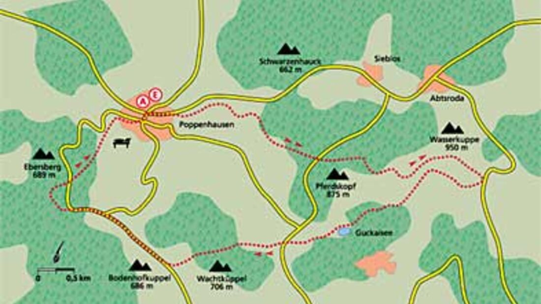 Tour 1: Auf den Hessen-Gipfel