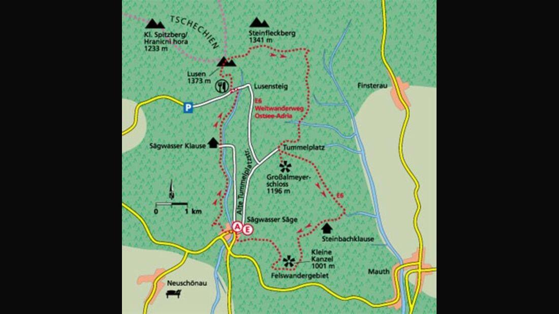 Tour 1: Zum Aussichtsgipfel Lusen