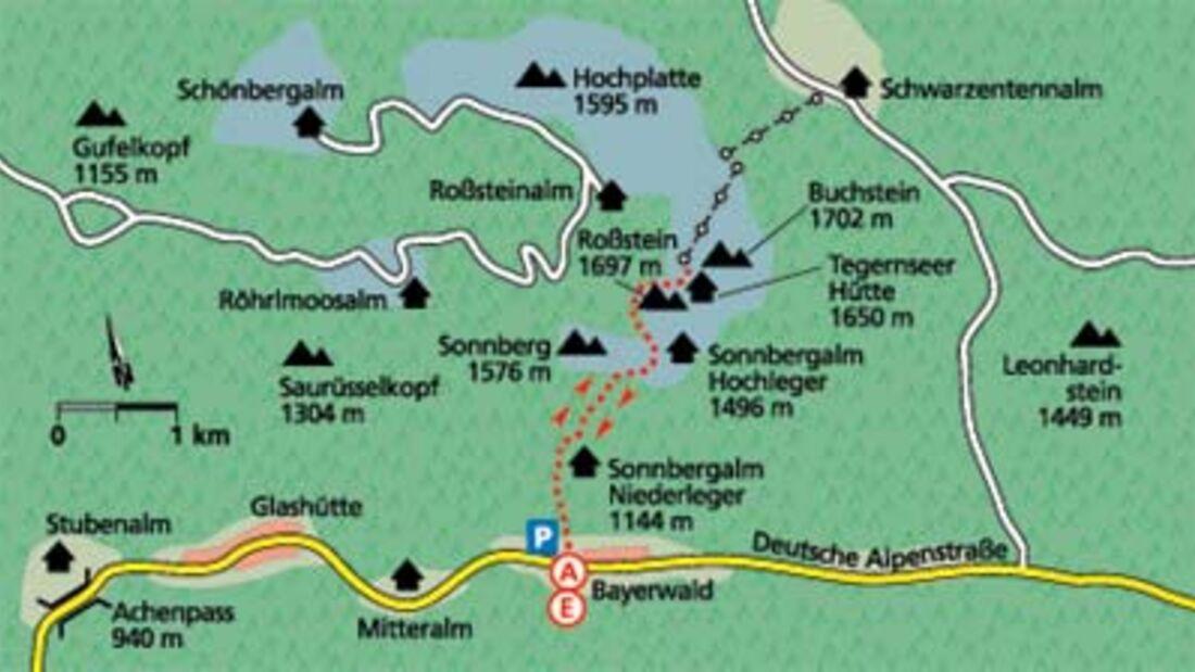 Tour 2: Adlerhorst zwischen Doppelgipfel