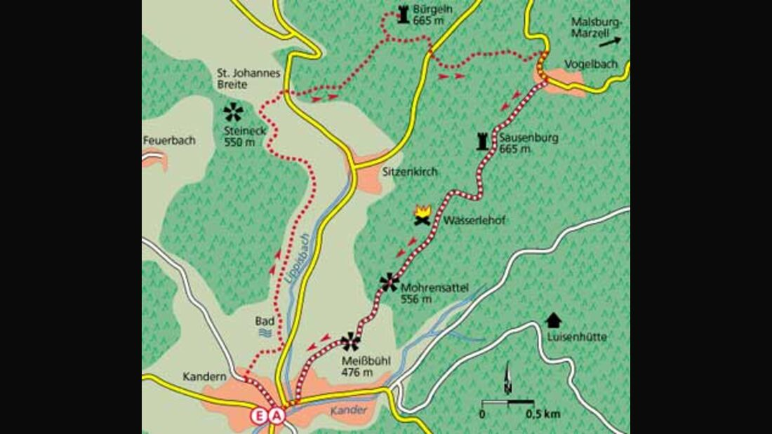 Tour 2: Das kleine Juwel im Hügelland