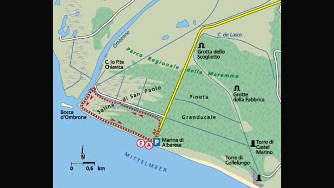 Tour 2: Zur Ombrone-Mündung