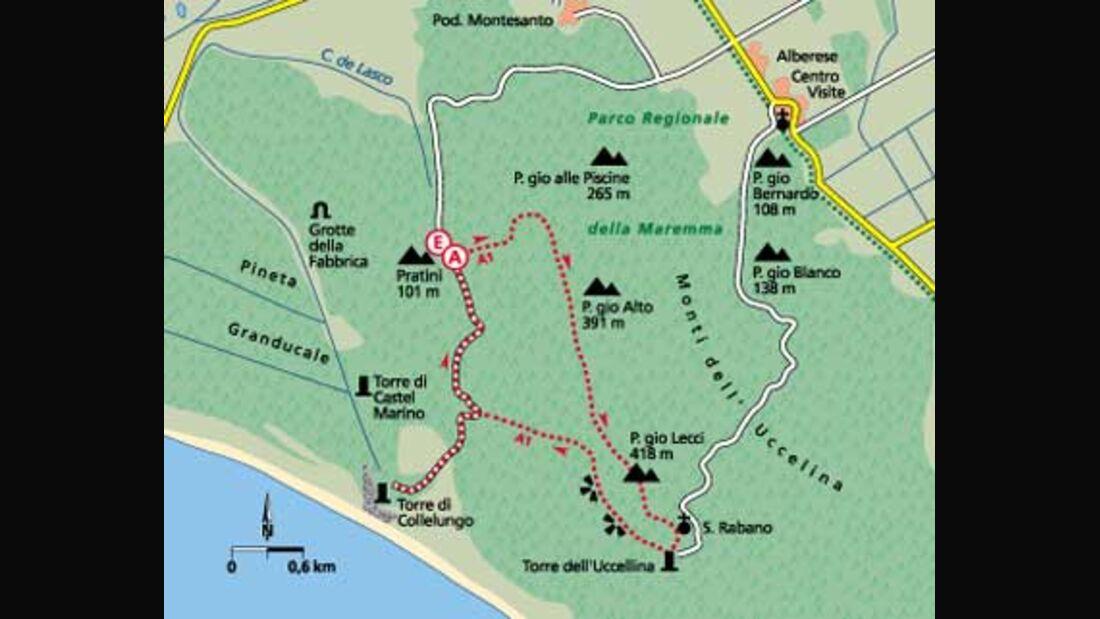 Tour 3: Zur Ruine der Abtei von San Rabano