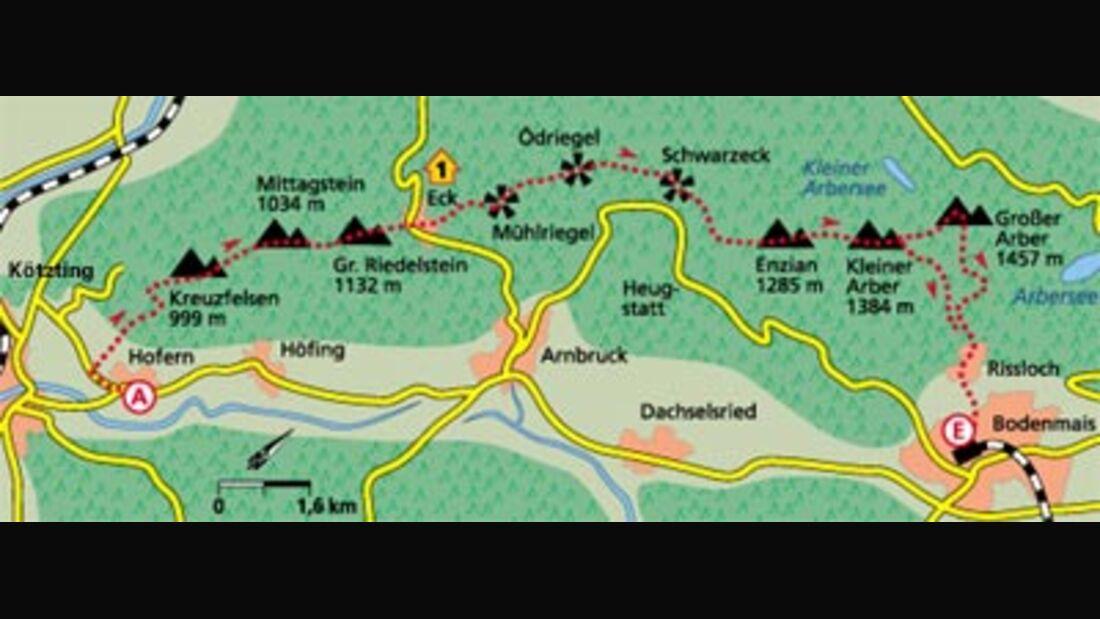 Tour : Zum Arber, dem höchsten Gipfel im Walde