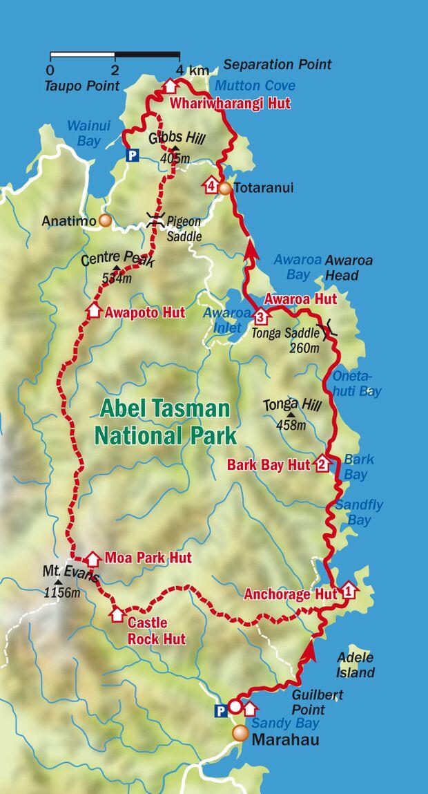 Trek Neuseeland Abel Tasman Park