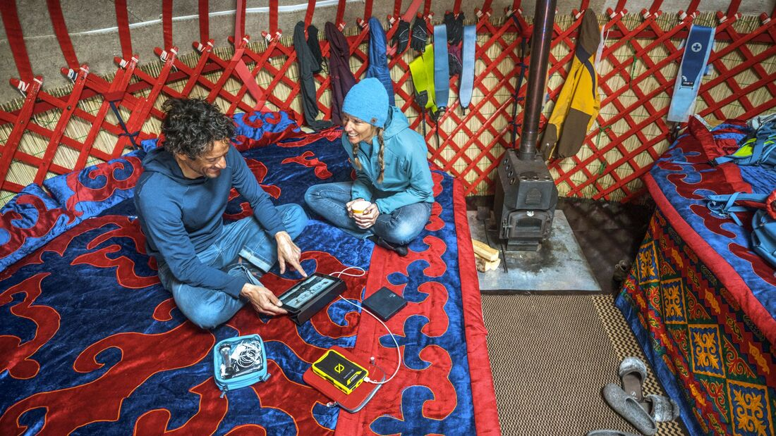 Using an iPad inside yurt