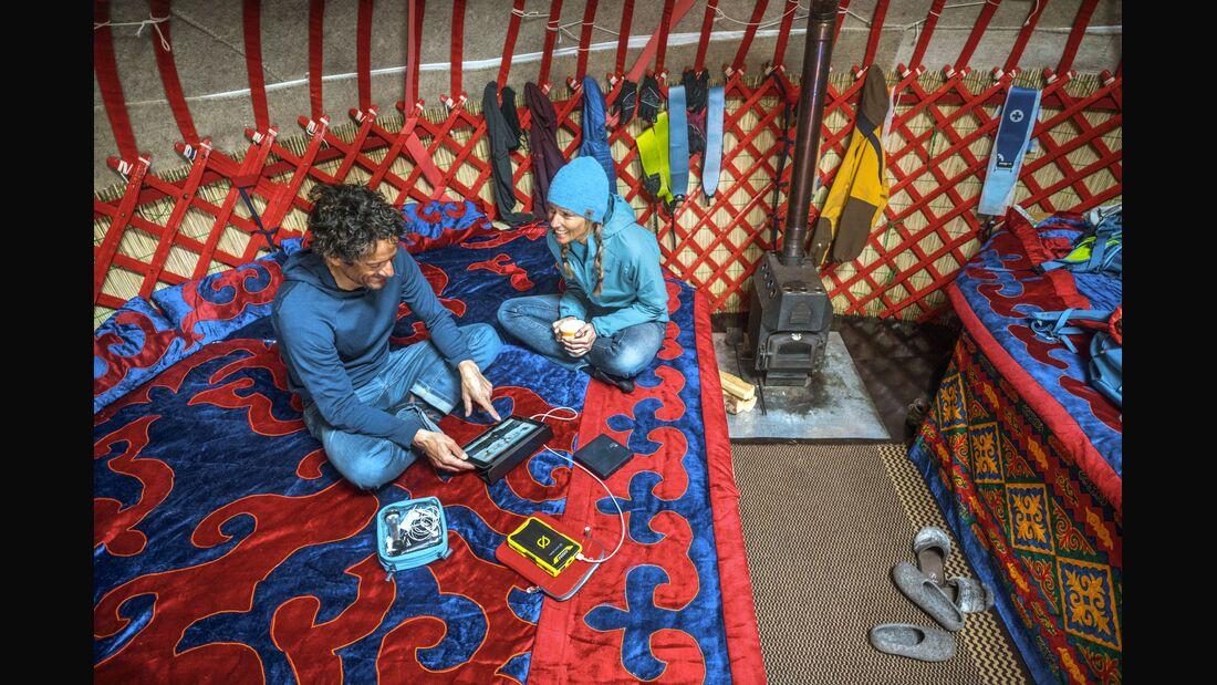 Using an iPad inside yurt