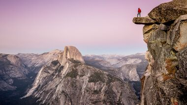 Wanderer im Yosemite National Park, California, USA