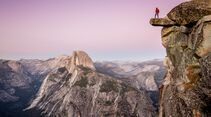 Wanderer im Yosemite National Park, California, USA