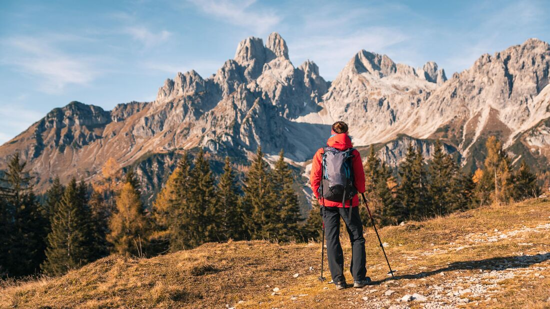 Wanderin bei Filzmoos im Salzburger Land