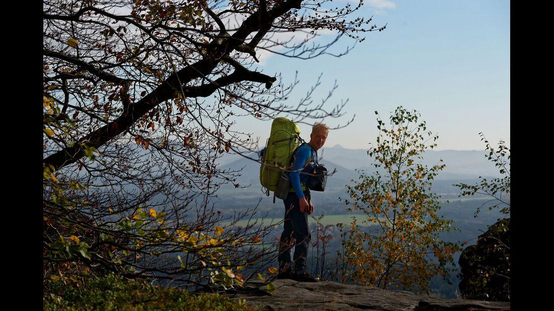 Wanderung auf dem Forststeig im Elbsandsteingebirge