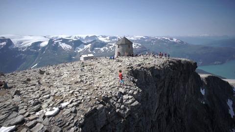 Wanderung auf den Mount Skåla in Fjord Norwegen