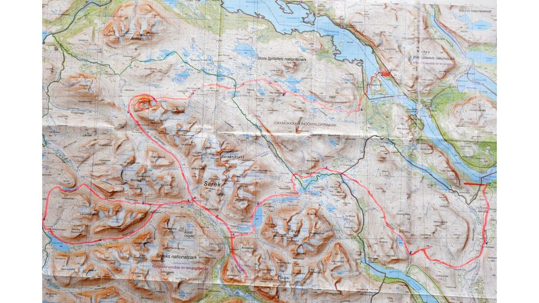 Wildnis-Trekking im Sarek 66