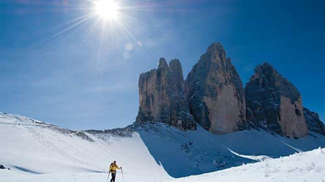 Wintertouren in den Dolomiten