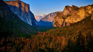 Yosemite Valley at Sunset, California, USA