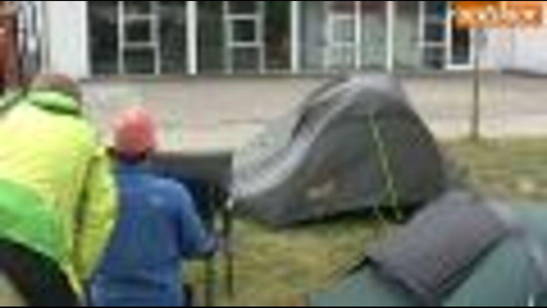 Zelttest 2011: Jack Wolfskin Atmosphere Dome II (ohne Werbung)