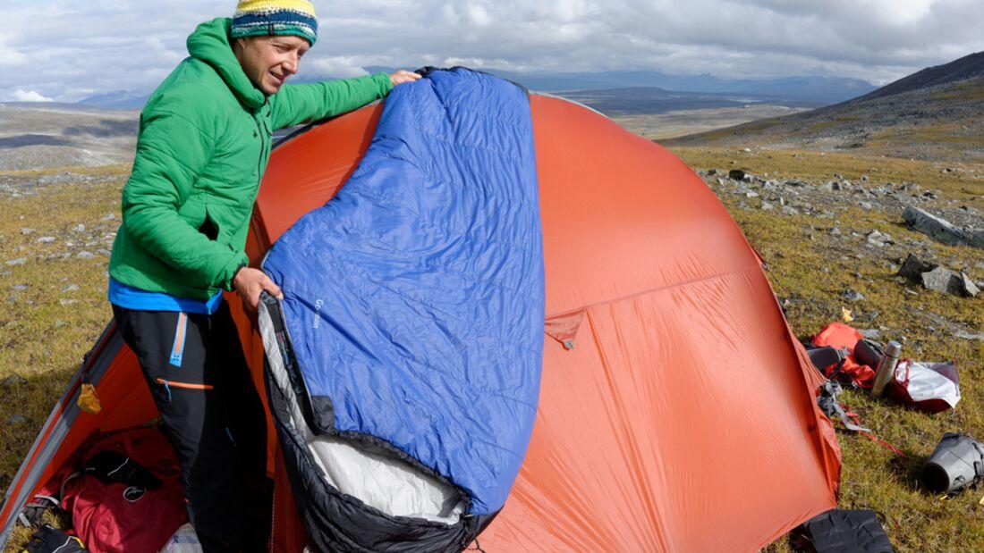 od-0815-trekkingrucksack-test-teaserbild Sarek Zelt Zelten Schlafsack Boris