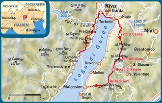 Karte Italien Gardasee.Gardasee Die Schönsten Wanderungen Am Lago Di Garda Outdoor