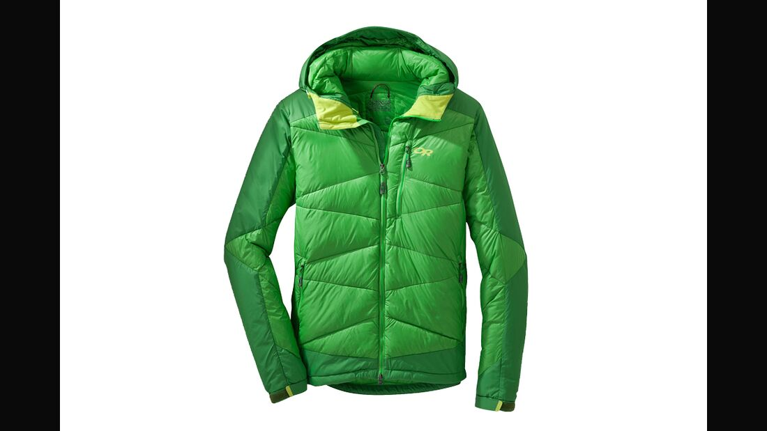 od 1115 test hybridbekleidung outdoor research diode hooded