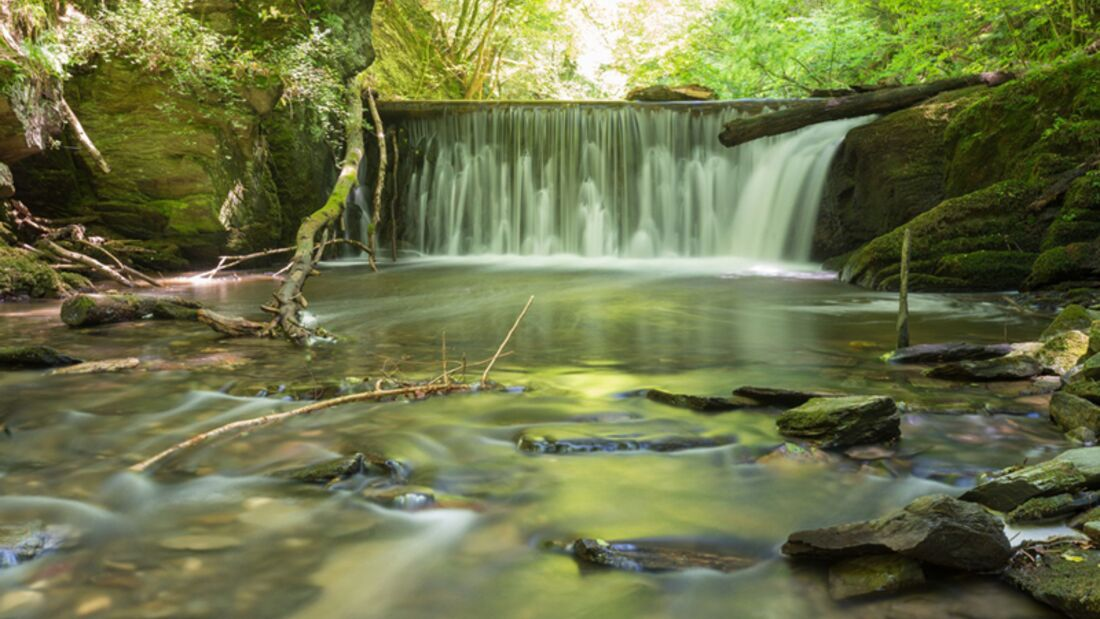 od-2016-hunsrueck-Wanderer-im-Baybachtal7-natur Traumschleife Baybachklamm (jpg)