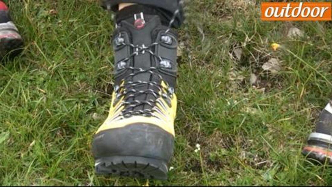 outdoor Praxis-Tipp: Schuhe schnüren