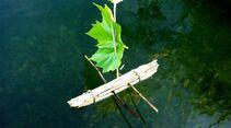 outdoor basteln kinder bastelbuch natur schiffchen